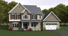 Country House Plan with 2378 Square Feet and 4 Bedrooms from Dream Home Source | House Plan Code DHSW076680