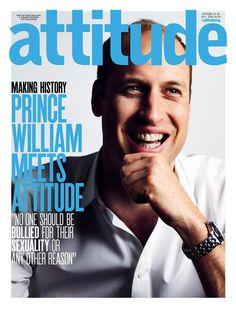 El príncipe William en la portada de la revista gay Attitude