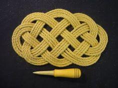 Rectangular rope mat - YouTube