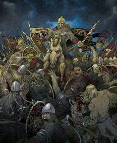 Viking Battle, Viking Warrior, Viking Woman, Fantasy Character Design, Character Art, Valhalla, Armadura Medieval, Norse Vikings, Viking Art
