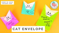 Origami Cat Envelope Tutorial - How to Make An Envelope from Paper With ...