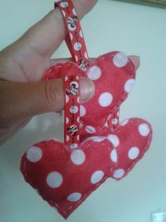 Minnie Mouse hanging hearts