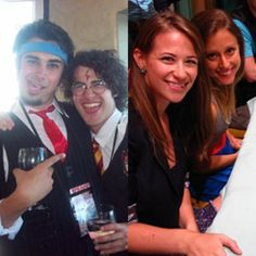Joey Richter, Darren Criss, Bonnie Gruesen and Lauren Lopez. Bonnie and Lauren look so different when they aren't in character. That is crazy that they change so much for their roles. Darren Criss, Harry Potter Musical, Lauren Lopez, Avpm, Team Starkid, Musical Theatre, Make Me Smile, Videos