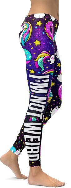 I'm not weird, I'm a Unicorn Leggings - GearBunch Leggings / Yoga Pants