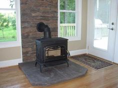 How To Install A Wood Stove 10 Steps With Pictures Wikihow Regarding Amazing Home Wood Stove Installation Prepare