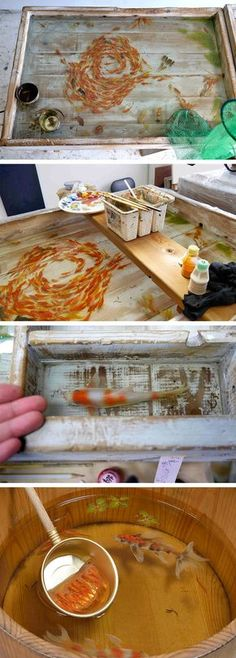 Riusuke Fukahori's Lifelike Goldfish Painted in Acrylic Between Layers of Resin