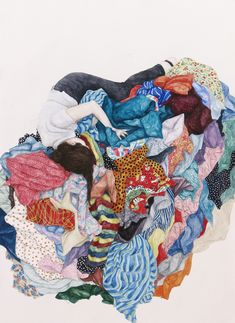 Monica Rohan's Self Portraits are Forever Lost in Textiles | Hi-Fructose Magazine