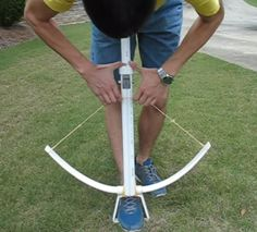 Build your own medieval crossbow from pvc pipe. The crossbow is a unique weapon that is actually is a combination of a hunting bow and a pistol. Crossbows