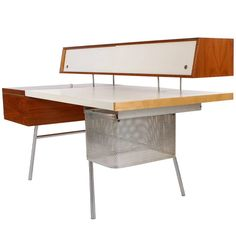 Executive Home Desk by George Nelson for Herman Miller | From a unique collection of antique and modern desks and writing tables at https://www.1stdibs.com/furniture/tables/desks-writing-tables/