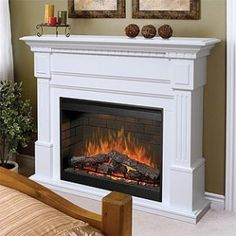 Dimplex Sussex White Electric Fireplace Mantel Package - SOP-272-W