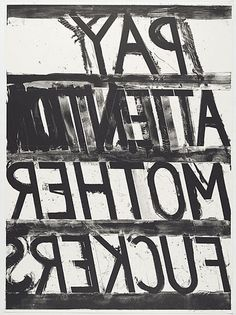 Bruce Nauman, Pay Attention, 1973 Lithograph 38 x 28 in. Edition of 50 Nocturne, Art Abstrait, Museum Of Modern Art, Art Museum, Pay Attention, Just In Case, Decir No, Cool Art, Awesome Art