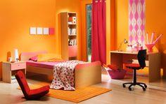 Bright orange kid's room inspiration.