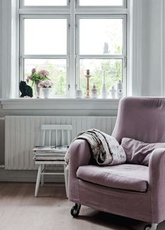 my scandinavian home: A Danish home with dusty hues and a homespun feel