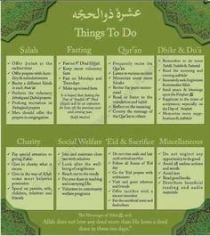 islam - things to do