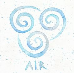 Air Nomad Symbol // 9x9 Watercolor Painting Print // Aang // Avatar the Last Airbender // Air Emblem // Light Blue  Check out my painting in etsy shop: EverlastingFantasy!