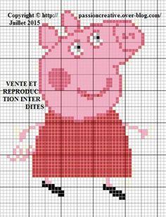 Hama Beads Patterns, Beading Patterns, Knitting Patterns, Peppa Pig, Jesus Crafts, C2c Crochet, Plastic Canvas Patterns, Pixel Art, Cross Stitch Patterns