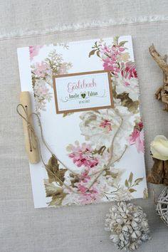 Hochzeitsgästebuch - Gästebuch Hochzeitsalbum LOVELY WEDDING DIN A4 - ein Designerstück von Papierwiese bei DaWanda