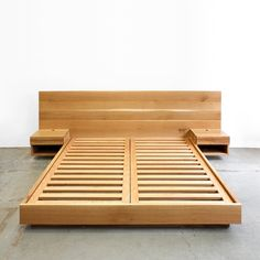 Diy bed - Hanko Plinth Bed with Side Tables Bed Frame Design, Bedroom Bed Design, Diy Bed Frame, Bed Frames, Bedroom Ideas, Bed Furniture, Furniture Design, Furniture Dolly, Furniture Online