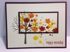 Sheltering Tree, Perpetual Calendar, Happy Happenings, Masculine Birthday Card, Stampin' Up!, Rubber Stamping, Handmade Cards
