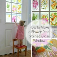 Faux Petal Stained Glass Window