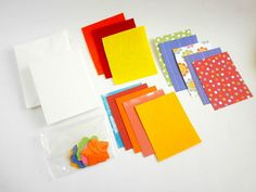 Items similar to Note Card Craft Kit - Red Polka Dots Set on Etsy Craft Kits, Note Cards, My Etsy Shop, Polka Dots, Notes, How To Make, Red, Crafts, Index Cards