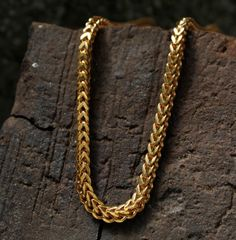 Got Yellow Gold Square Box Franco Necklace Pendant Chain Gold Chain Design, Gold Jewellery Design, Mens Gold Bracelets, Gold Bangles, Jewelry Bracelets, Gold Fashion, Fashion Jewelry, Men Fashion, Gold Chains For Men