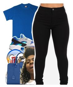 """SIXTEEN (my group)"" by tanaisha ❤ liked on Polyvore featuring Hanes and NIKE"