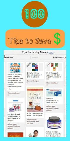 100 Tips to Save Money