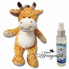 CUDDLE GIRAFFE & SPRAY  Your little one #cuddle and #sleep with a #beFragrant #scented cuddle #pet.  The #plush cuddle comes #scented and includes a bottle of beFragrant #BoogieMan #beGone #Kids #Spray of your choice.  Options  Bubble Dreams  Jazzberry Blast  Magic Clouds  Silly Snuggles  Fairy Dust - While Supplies Last http://corporate.gobefragrant.com/shop/Kidz-Zone/Cuddle-GIRAFFE-Spray.php?xpage=category&express_checkout=
