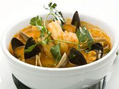 Soupe portugaise au chorizo, poisson et fruits de mer