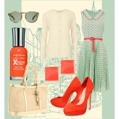 Mint and Red, created by stephanie-cardwell on Polyvore