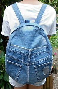 Vintage Recycled Denim Backpack £20.99