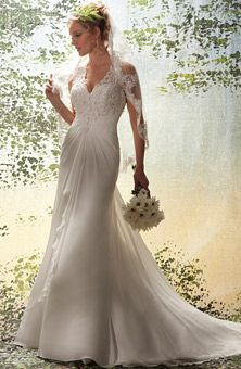 Brides Magazine: 1 Wedding by Mary's Bridal : Style No. FJJA : Wedding Dresses Gallery
