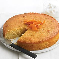 Almond Orange Yogurt Cake Semolina is a coarse-ground flour made from durum wheat. Look for it in the baking section of your supermarket or health-food store. Easy Cake Recipes, Fruit Recipes, Dessert Recipes, Recipies, Cake Recipe Martha Stewart, Orange Yogurt, Orange Zest, Yogurt Cake, Almond Cakes