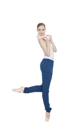 Double straps leotard Petal pink & Warm-up leggings Blue Celeste by Repetto - Collection fall-winter 2014