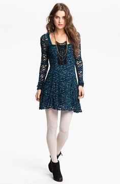Free People 'Flirt for You' Lace Dress available at #Nordstrom...so cute....