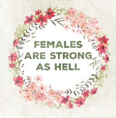 "There's no denying it-- females are strong as hell! Our comes to you from the ""Unbreakable Kimmy Schmidt"" show! Intersectional Feminism, We Are The World, Up Girl, Strong Women, Fierce Women, Stay Strong, Girl Power, Inspire Me, Equality"