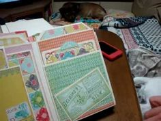 scrapbooking - build a page mini album Kathyorta - Emmas Shoppe collection