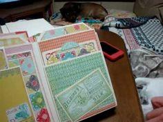 scrapbooking - build a page mini album Kathyorta - Emma's Shoppe collection