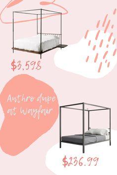 Anthropologie Bedroom, Bedroom Bed, Platform Bed, Dupes, Save Yourself, Work Hard, Lifestyle Blog, Check, Home Decor