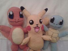 pikachu charmander squirtle amigurumi crochet