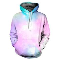 New Hip Hop 3D Print Nebula Hoodie Men's Woman's