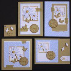 Marjoleine's blog: mooie combi dat kraftkarton met babyblauw
