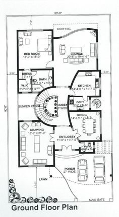 Free House Plans, Simple House Plans, House Layout Plans, Family House Plans, House Layouts, Bungalow Haus Design, Bungalow House Plans, House Floor Plans, The Plan