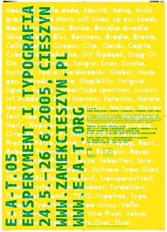 Johanna Biľak, A poster series for the Experiment And Typography exhibition, which presented works of the last 20 years from the Czech and Slovak Republics