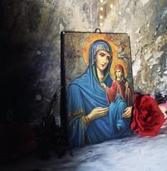 Virgin Mary, Kai, Painting, Icons, Quote, Painting Art, Symbols, Blessed Virgin Mary, Paintings