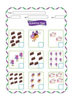 Blog com atividades escolares. Voltado para mães e professoras. Dots Game, Math Skills, Math Worksheets, Teaching Math, Booklet, Homeschool, Make It Yourself, Education, Cards