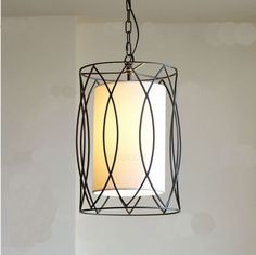 Modern-Simplicity-Style-1-Light-Metal-Cloth-Chandelier-Droplight-Hanging-lamp