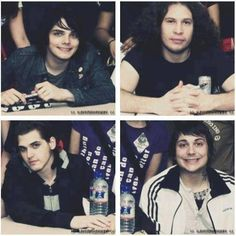 It funny gerard and Frankie have these huge smiles and then Ray and Mikey are like umm I don't smile