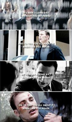 I'll tell you all about it when I see you again. #marvel